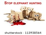 elephant origami for stop... | Shutterstock . vector #113938564
