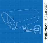 cctv security camera. outline... | Shutterstock .eps vector #1139387963