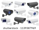 security camera set. cctv... | Shutterstock .eps vector #1139387969