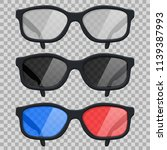 glasses. vector illustration | Shutterstock .eps vector #1139387993