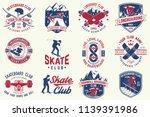 set of skateboard and longboard ... | Shutterstock .eps vector #1139391986