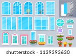 set of colorful windows in a...   Shutterstock .eps vector #1139393630