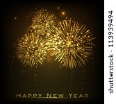 happy new year celebration... | Shutterstock .eps vector #113939494