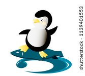 vector illustration with cute... | Shutterstock .eps vector #1139401553