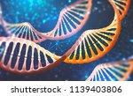 dna research molecule. 3d... | Shutterstock . vector #1139403806