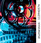 reel of film in bright light | Shutterstock . vector #113940574