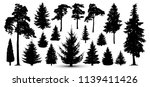 trees forest set  vector.... | Shutterstock .eps vector #1139411426