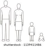 family with baby | Shutterstock .eps vector #1139411486