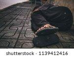 poor old man or beggar begging... | Shutterstock . vector #1139412416