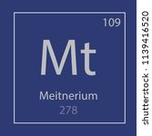 meitnerium mt chemical element... | Shutterstock .eps vector #1139416520