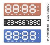 set paper numbers from zero to...   Shutterstock .eps vector #1139420090