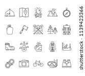 set of hiking and camping icons ... | Shutterstock .eps vector #1139423366
