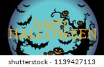happy halloween banner or... | Shutterstock .eps vector #1139427113