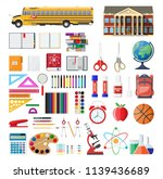 big school set. different... | Shutterstock .eps vector #1139436689