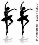 silhouette of a classic ballet...   Shutterstock .eps vector #1139441570