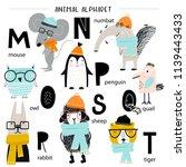 Cute Vector Zoo Alphabet Poste...