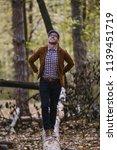 autumn outdoors portrait of...   Shutterstock . vector #1139451719
