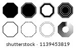 octagon icon pack. geometry... | Shutterstock .eps vector #1139453819
