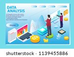 3d infographic business data... | Shutterstock .eps vector #1139455886