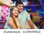 young attractive couple man and ... | Shutterstock . vector #1139459813