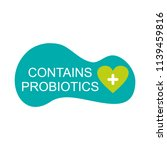 logo contains probiotics. label ...   Shutterstock .eps vector #1139459816