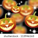 halloween pumpkins  jack of the ... | Shutterstock .eps vector #113946163