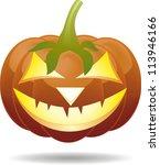 scary jack o lantern halloween... | Shutterstock .eps vector #113946166