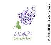 lilac flower. logo design. text ... | Shutterstock .eps vector #1139467130