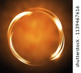 vector banner of a radiant neon ... | Shutterstock .eps vector #1139467616
