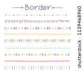 set of colorful doodle borders. ... | Shutterstock .eps vector #1139468960