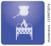 brazier and chicken icon.... | Shutterstock .eps vector #1139473076