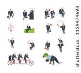 office life set corporate.... | Shutterstock . vector #1139474693