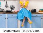retro pin up girl woman female... | Shutterstock . vector #1139479586