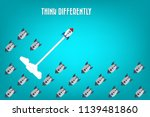 think differently   being... | Shutterstock .eps vector #1139481860