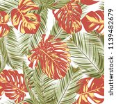 summer exotic floral tropical... | Shutterstock .eps vector #1139482679