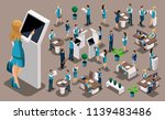 isometric set  bank icons with... | Shutterstock .eps vector #1139483486