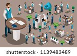 isometry set  bank icons with... | Shutterstock .eps vector #1139483489