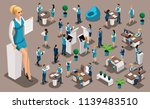 isometric set  bank icons with... | Shutterstock .eps vector #1139483510