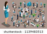 isometric set  bank icons with... | Shutterstock .eps vector #1139483513