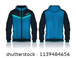 hoodie shirts template.jacket... | Shutterstock .eps vector #1139484656