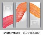 trendy geometric background. 3d ... | Shutterstock .eps vector #1139486300