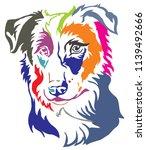 colorful decorative portrait of ... | Shutterstock .eps vector #1139492666