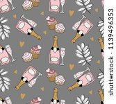 seamless pattern with... | Shutterstock .eps vector #1139496353