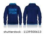 hoodie shirts template.jacket... | Shutterstock .eps vector #1139500613