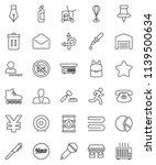 thin line vector icon set  ... | Shutterstock .eps vector #1139500634