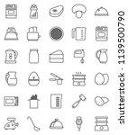 thin line vector icon set  ... | Shutterstock .eps vector #1139500790