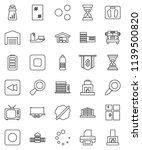 thin line vector icon set  ... | Shutterstock .eps vector #1139500820