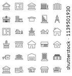 thin line vector icon set  ... | Shutterstock .eps vector #1139501930