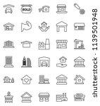 thin line vector icon set  ... | Shutterstock .eps vector #1139501948