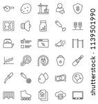 thin line vector icon set  ... | Shutterstock .eps vector #1139501990